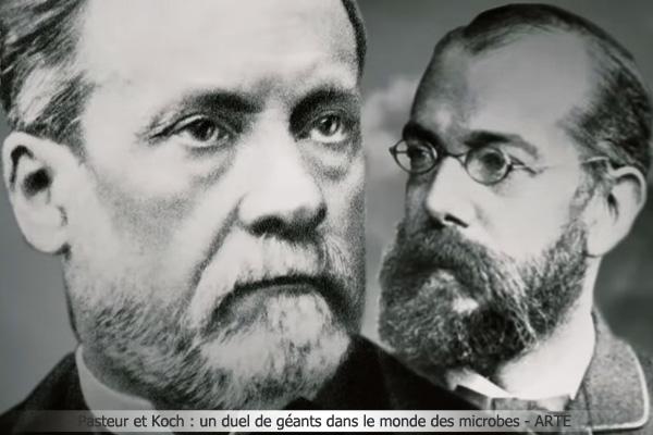 Nhà hóa học Louis Pasteur (người Pháp) và bác sĩ Robert Koch (người Đức)