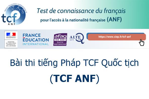 Bài thi TCF Quốc tịch (TCF-ANF)