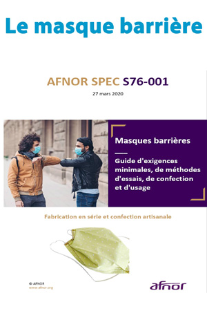 Tiêu chuẩn khẩu trang vải AFNOR s76-001