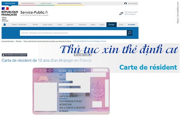 Thẻ định cư tại Pháp ::: carte de résident