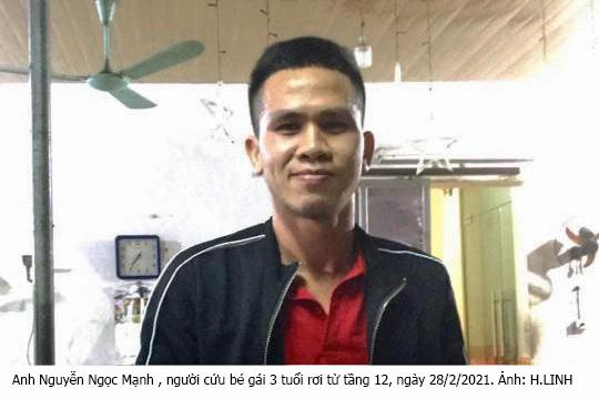 Anh Nguyễn Ngọc Mạnh cứu bé gái 3 tuổi rơi từ tầng 12