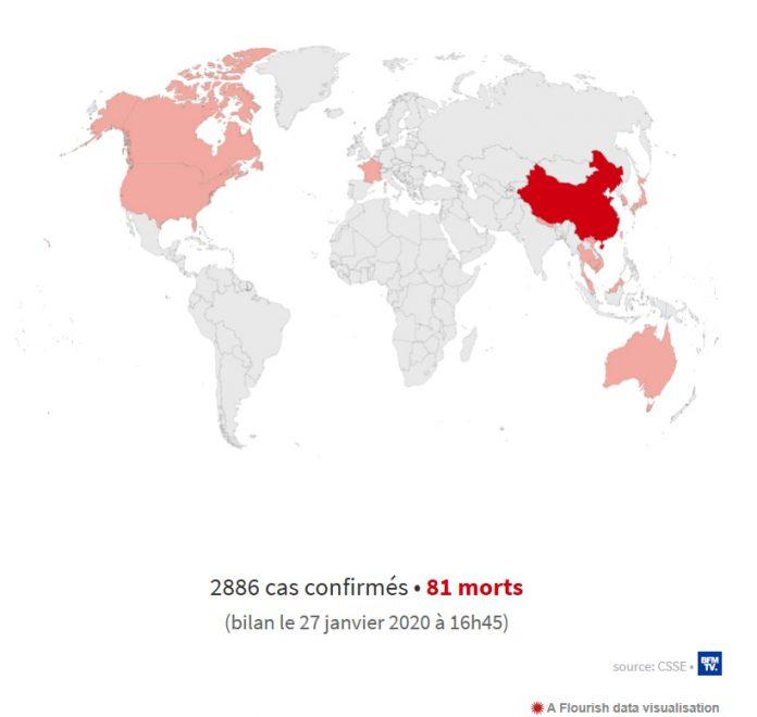 Bản đồ dịch Covid-19 vào ngày 27/1/2021 trên thế giới